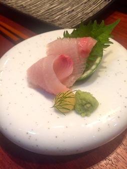 Yellowtail sashimi.